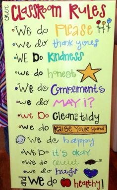 1000+ images about Preschool - classroom rules on ...