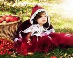 Red Riding Hood Costume with Wolf Red Riding by wickedandwonder