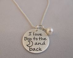 Small I Love You To The Moon and Back Necklace