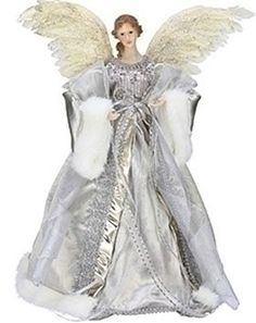 "16.5"" Celebration Silver and Gold Angel Christmas Tree Topper 16.5"" - Unlit by Roman, http://www.amazon.com/dp/B008OI3DHC/ref=cm_sw_r_pi_dp_z3K1rb06CVSWG"