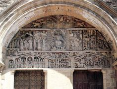 Last Judgement, from the tympanum of the portal.  c.1130  Church of Saint Foy, Conques, France.