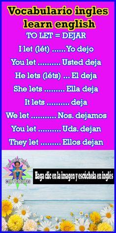 Basic Spanish Words, Spanish Grammar, Spanish Vocabulary, Spanish Language Learning, Spanish Lessons, How To Speak Spanish, Teaching Spanish, English Lessons, Learn Spanish
