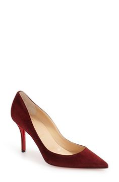 Free shipping and returns on Christian Louboutin 'Apostrophy' Pointy Toe Pump…