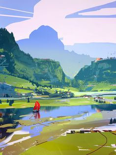 River, sparth . on ArtStation at https://www.artstation.com/artwork/WzbwN?utm_campaign=notify&utm_medium=email&utm_source=notifications_mailer