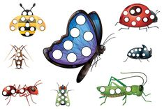 Insect Do-A-Dot printables ~ If your kids love bugs, then they will love these simple printables