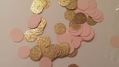 Pink and Gold Confetti-Table Scatter Confetti- Bridal Shower Decor- Pink and Gold Baby Shower Decor- Wedding Decor- Quinceanera Decor by LaVignesLilMiracles on Etsy https://www.etsy.com/listing/231650733/pink-and-gold-confetti-table-scatter