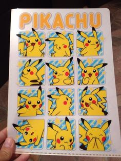 Pokemon Photos from Tokyo - Pikachu Clear File folder