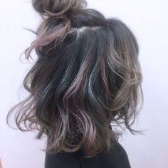 Grey with peacock tint Bad Hair, Hair Day, Hair Inspo, Hair Inspiration, Pretty Hair Color, Hair Arrange, Dye My Hair, Hair Highlights, Textured Hair