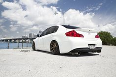 Infiniti G37 Sedan on Bagged on Velgen VMB8 | Flickr - Photo Sharing!