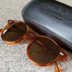 #details of our cran tortoise with tobacco lenses #sunglasses by #tbdeyewear #thebespokedudeseyewear #style #dapper #shades #specs #menswear #mensstyle