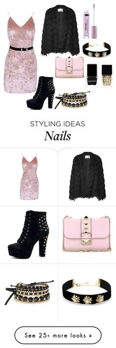 """""""Edgy unicorn #2"""" by hageslah on Polyvore featuring Valentino, Lime Crime, Avon, Lydell NYC, Context and Witchery"""