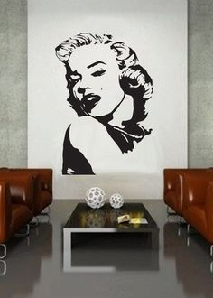 Marilyn Monroe 3 UBer Decals Wall Decal Vinyl Decor By UBerDecals