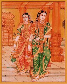 Mysore Painting, Rajasthani Painting, Kerala Mural Painting, Tanjore Painting, Silk Painting, Painting & Drawing, Figure Drawing, Cute Paintings, Indian Art Paintings