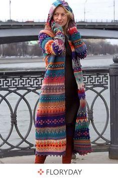 Long sleeve hooded sweater Outfits 2019 Outfits casual Outfits for moms Outfits for school Outfits for teen girls Outfits for work Outfits with hats Outfits women Crochet Coat, Crochet Clothes, Diy Crochet, Crochet Ideas, Hooded Sweater, Sweater Coats, Hooded Coats, Boho Fashion, Autumn Fashion