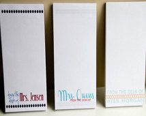 Personalized Teacher Notepads - Set of 3 - From the Desk of - Personalized  - Teacher Gifts