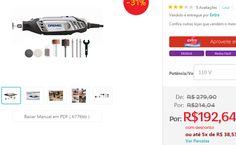 Microrretífica Dremel Série 3000 com Kit com 10 Acessórios - 90W >