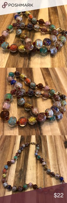 Murano Italy 🇮🇹 Glass Necklace! Bought in Venice Murano Italy 🇮🇹 Glass Necklace! Bought in Venice. Comes with dust bag to protect it! 📌 No Trade ✔️ Same-Day/Fast Shipping ✔️ Get extra 10% for Bundle ✔️ Smoke/Free Home, packed by perfectionist! ✔️☘️NO Low-ballers, only serious buyers! ☘️ Prices are the lowest! If you see something you want, get it now before it's GONE!! 🌼Please keep Poshmark fees in mind & be KiND! 🌼 Jewelry Necklaces