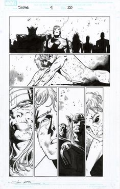 Coipel - Siege - Issue 4 - Page 20 Artist: Olivier Coipel (Penciller) Comic Book Artists, Comic Artist, Comic Books Art, Comic Layout, Black And White Artwork, Comic Book Panels, Bd Comics, Comics Universe, Panel Art