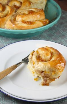 Peach Pie Cinnamon Rolls | Red Star Yeast