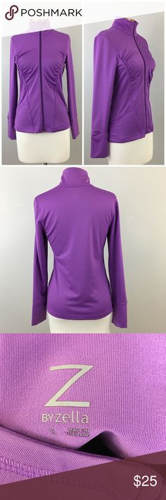 Zella Purple Stretch Long Sleeve Zip Up Sweatshirt Zella Purple Stretch Long Sleeve Zip Up Sweatshirt. Size small with stretch. Gorgeous jacket! Thank you for looking at my listing. Please feel free to comment with any questions (no trades/modeling).  •Condition: EUC, no visible flaws. Worn 1-2 times.   ✨Bundle and save!✨10% off 2 items, 20% off 3 items & 30% off 5+ items! KC Zella Tops Sweatshirts & Hoodies