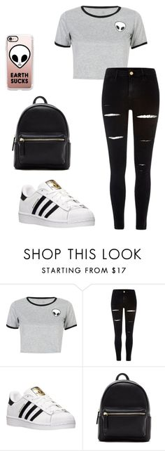 """Untitled #26"" by zinnt on Polyvore featuring WithChic, River Island, adidas, Forever 21 and Casetify"