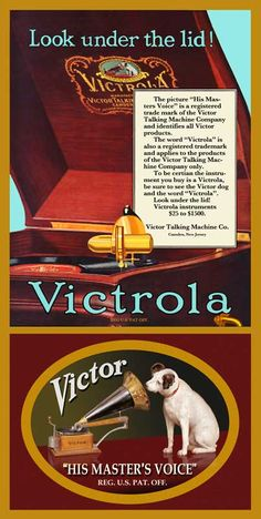 X Repro Victor Talking Machine Phonograph Advertisement Canvas Banner Retro Advertising, Vintage Advertisements, Vintage Ads, Vintage Posters, Radios, Vintage Records, Vintage Signs, Lps, Edison Phonograph
