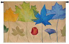 Leaf Dance III Wall Tapestry