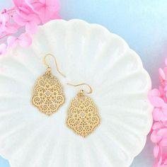 Online Shopping For LAVISHY Unique And Beautiful Filigree Earrings – LAVISHY Boutique Filigree Earrings, Gold Plated Earrings, Pendant Earrings, Flower Earrings, Silver Earrings, Crochet Earrings, Clothing Boutiques, Boutique Clothing, Gift Shops