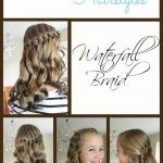 Back to School Hairstyles I am in love with this Waterfall Braid. It so so elegant and fun at the same time! This back to school hairstyle works for short,