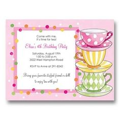 free afternoon tea party invitation template tea party pinterest .