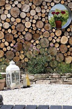 Do Mi s Garten: Sichtschutzwand aus Rundhölzern & weiteres: