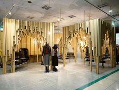 Interior de tienda con tubos de cartón | 27 artesanías increíblemente inteligentes que puedes hacer con cartón