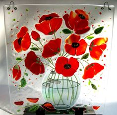 LOVE the poppies in glass!!!