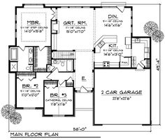 Plan 89335AH: Ranch Home Plan with Unexpected Amenities