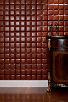 Craft NappaTile™ Faux Leather Wall Tiles by Concertex Faux Leather Walls, Leather Wall Panels, 3d Wall Panels, Red Leather, Creative Wall Decor, Creative Walls, 3d Wandplatten, Upholstered Wall Panels, Deco Cuir