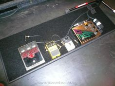 Flea's (The Red Hot Chili Peppers) pedalboard