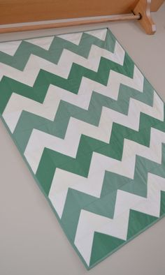 Minkee backed Baby Quilt Chevron Pattern Made to by MagpieQuilts, $120.00