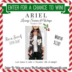 Enter for a chance to win ARIEL Rose Silk Scarf