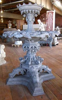Large American Gothic Revival Cast Iron Fountain
