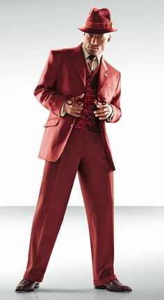 STACY ADAMS® BOWER BRICK COLORED VESTED SUIT