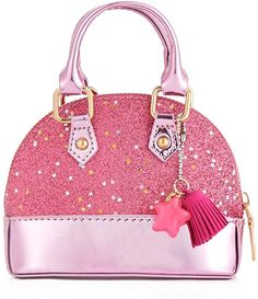 f3da963e5d072 Amazon.com: Princesstype Little Girls Mini Dome Satchel Crossbody Bag  Wallet Shell Shape Purse Handbags for Toddler Kids Tote (Pink): Clothing