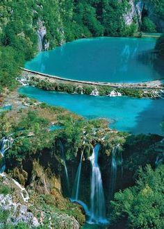 Você realmente sabia? Foto Arte: Parque Nacional dos Lagos de Plitvice - Croácia