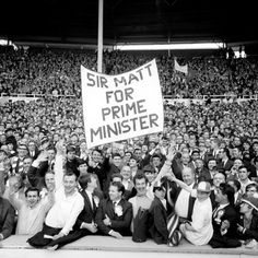 9bbdd5cde Manchester United fans supporters pay their tribute to manager Sir Matt  Busby before the 1968 European Cup Final at Wembley Stadium.