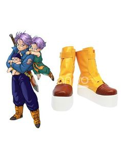 Dragon Ball Trunks cosplay shoes boots shoe boot hand made MM.156 NEW