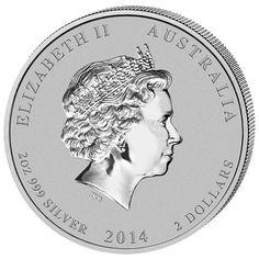 Moneda 2 onzas de plata 2$ Australia Año Lunar caballo 2014, Tienda Numismatica y Filatelia Lopez, compra venta de monedas oro y plata, sellos españa, accesorios Leuchtturm
