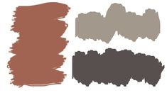 Exterior colours: Sherwin Williams Manor House (SW for the door and Sticks & Stones for the trim and siding (SW Brick House Colors, Outside House Colors, House Exterior Color Schemes, Exterior Paint Colors For House, Paint Colors For Home, Exterior Colors, Exterior Design, Exterior Homes, Shutter Colors