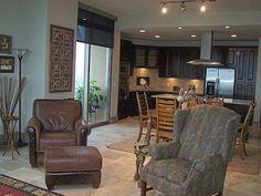 A posh living room inside a 7 Riverway Houston condo.