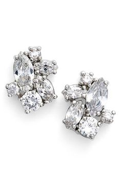 Givenchy Crystal Cluster Stud Earrings available at #Nordstrom