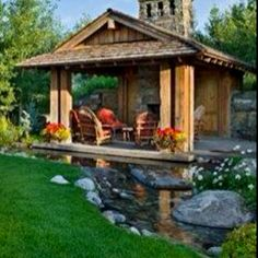 The dream yard & patio, with a little pond