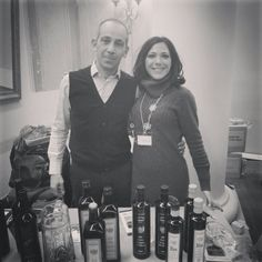 Simone and Francesca ready to promote Sardinian Evoo and wines in #Vilnius #Estonia #Ireland